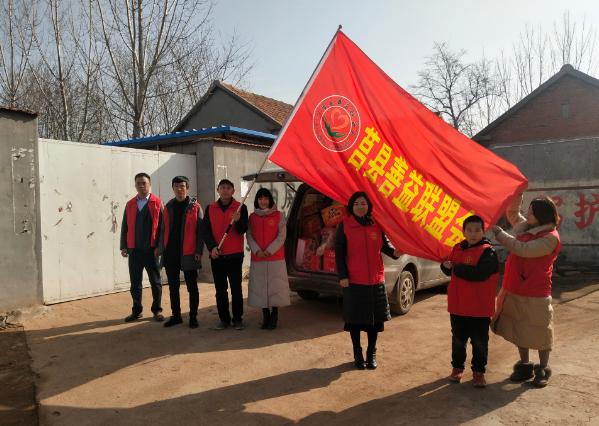 山东莒县善益联盟会开展春节关爱贫困老人送温暖活动