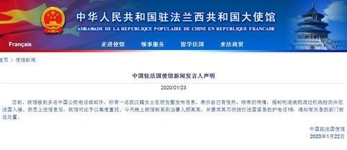 武汉女子被指吃退烧药混过安检入境法国 中使馆回应_法国新闻_法国中文网