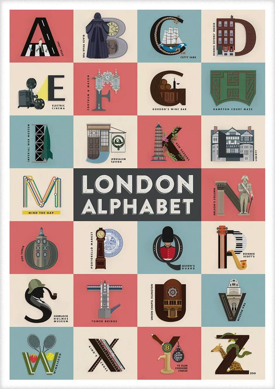 工作室Fanakalo以伦敦为主题创作的一幅海报作品欣赏!