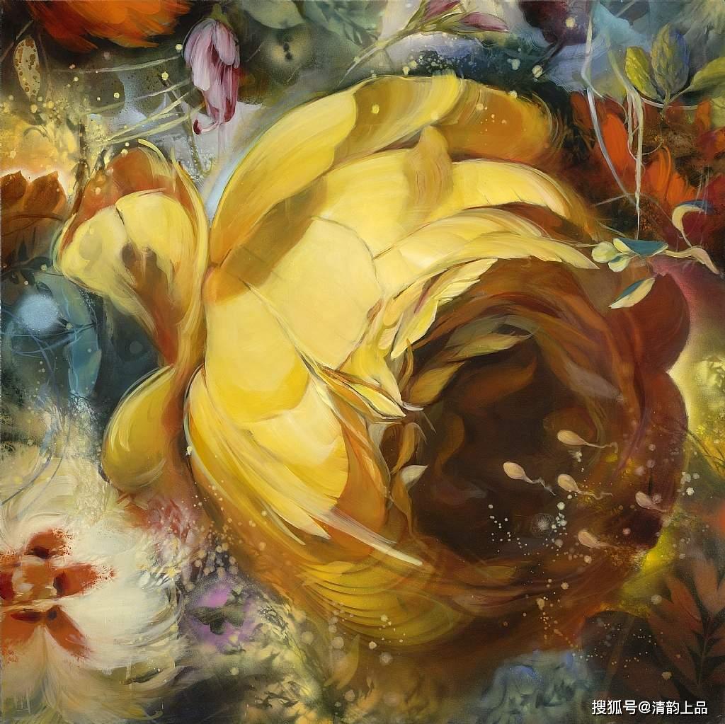 意大利象征主义画家梅洛·布兰迪诺的油画花卉<_意大利新闻_意大利中文网