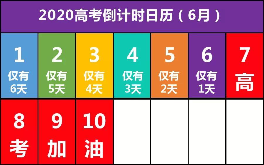 河北高考微信祝您鼠年大吉!2020高考倒计时日历及大事记,请收好!