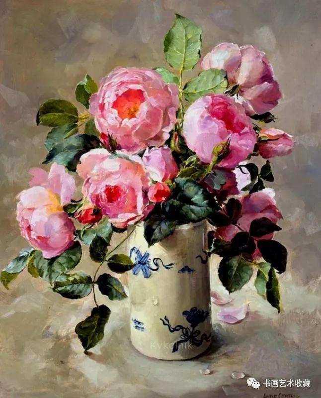 英国绘画:画布上盛开的花卉_英国新闻_英国中文网