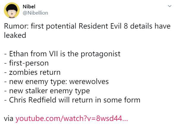 传《生化危机8》继续采用第一人称7代主角回归