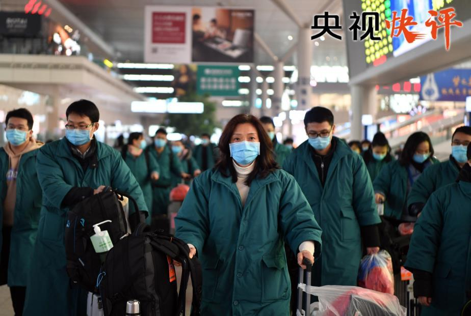 【央视快评】让党旗在防控疫情斗争第一线高高飘扬
