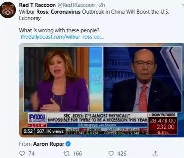 美国商务部长居然这么说中国的疫情!美国网民都惊呆了!