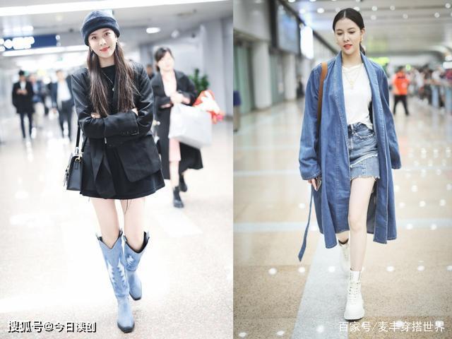 学学宋妍霏的冬季搭配,学院风酷帅风切换自如,你也能成人群焦点_黑色