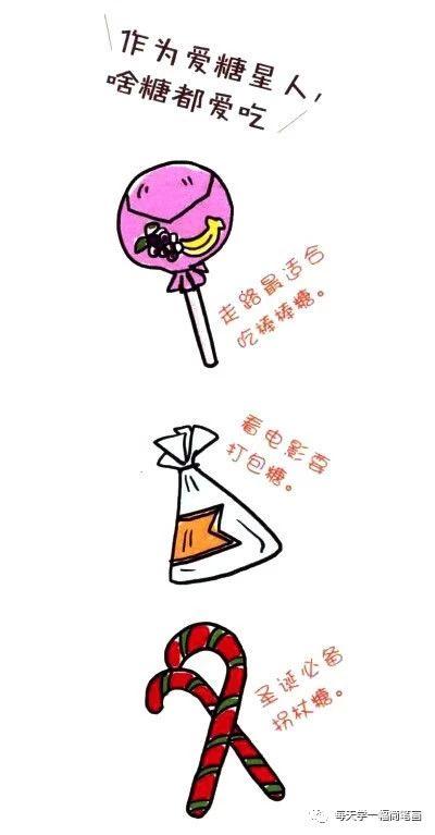 四步画出糖果简笔画图片