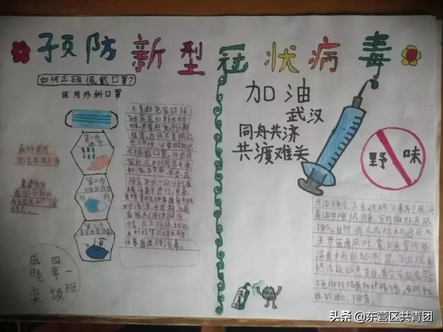 绘制手抄报,宣传疫情防控小知识,防控疫情从我做起!
