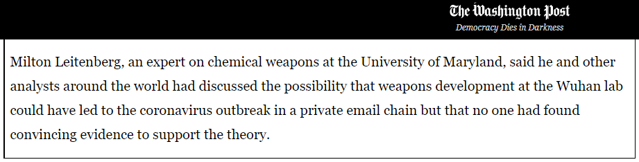 新型冠状病毒是武汉实验室泄露的生化武器?美媒看不下去了