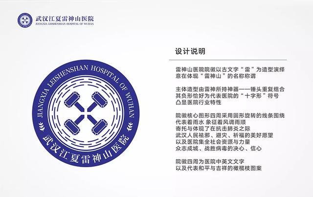 武汉加油 设计师为火神山医院 雷神山医院设计新LOGO,简直