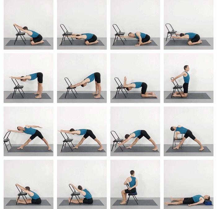 """【精彩】开肩打开胸腔&灵活脊柱,一套""""椅子""""瑜伽序列帮你搞定!"""