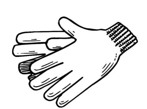 手套物品简笔画