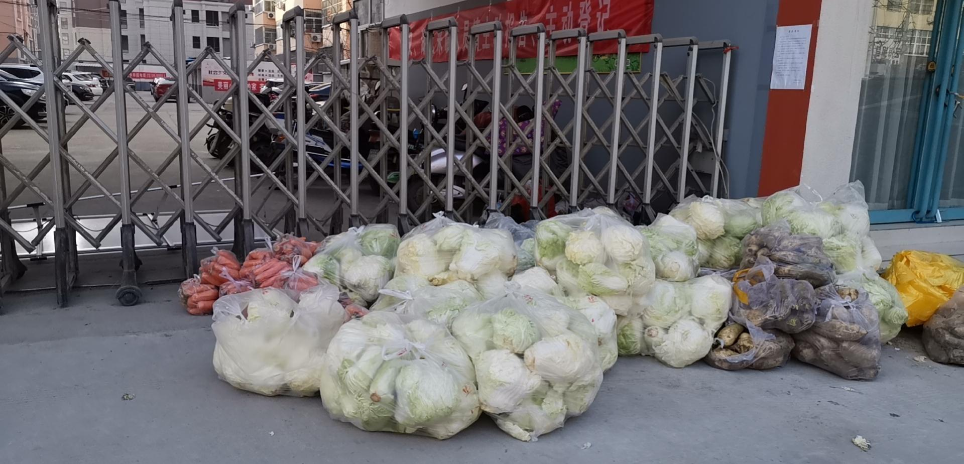 隔离@小区居民没有哄抢蔬菜,临颍:封闭隔离进入第三天