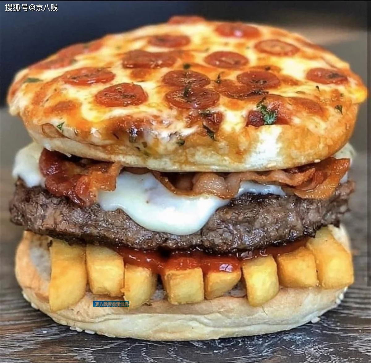 好想咬一口,高热量快餐全明星组合,梦幻的披萨汉堡