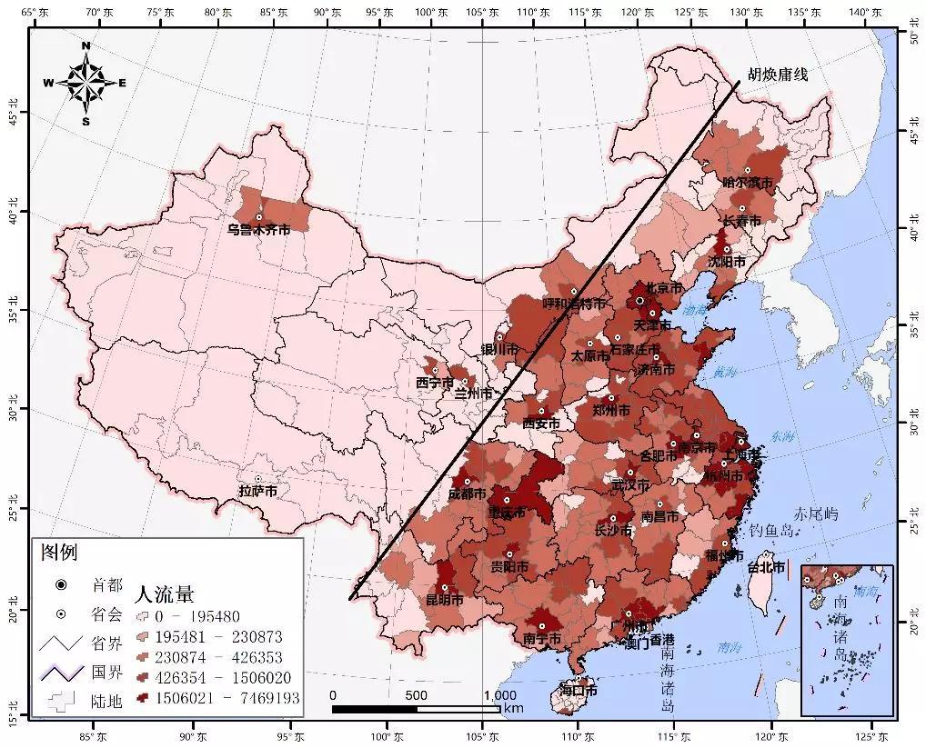 地理人口四维坐标图_地理坐标图片