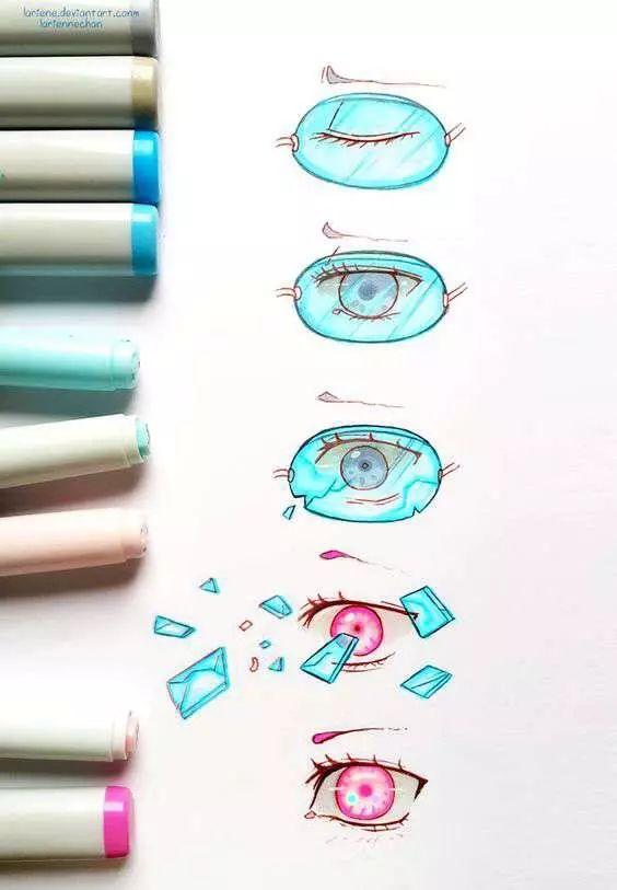 马克笔教程 教你用马克笔画眼睛,实用的素材