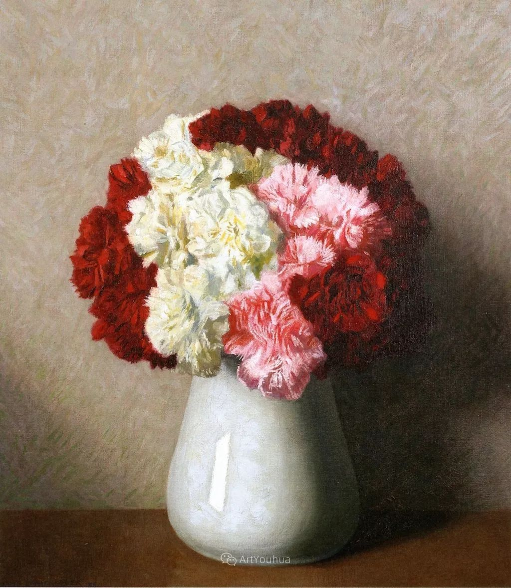 瑞士艺术家汉斯·埃默尼格素雅的风格静物油画作品赏析