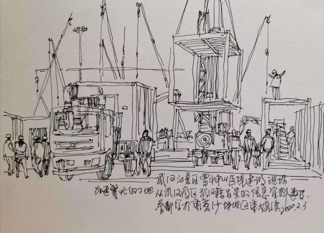 唐山籍艺术家张春新用速写记录抗疫中的逆行者