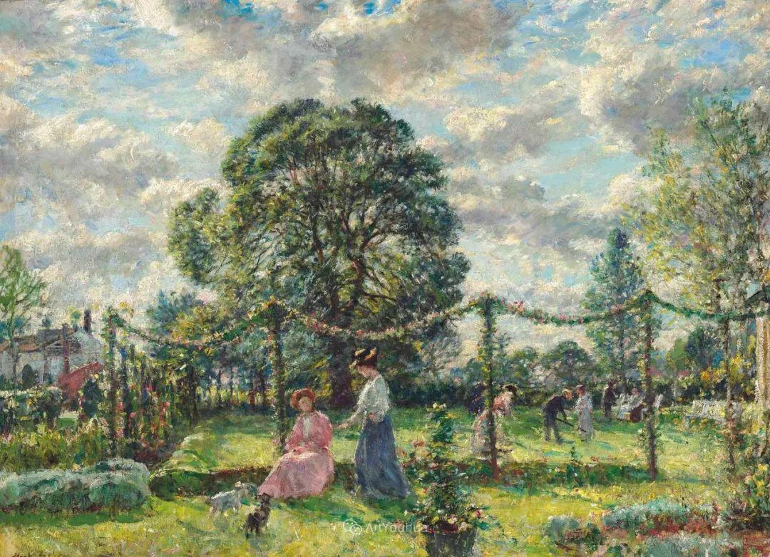 美国印象派画家威廉·马克·费舍尔风景油画作品赏析