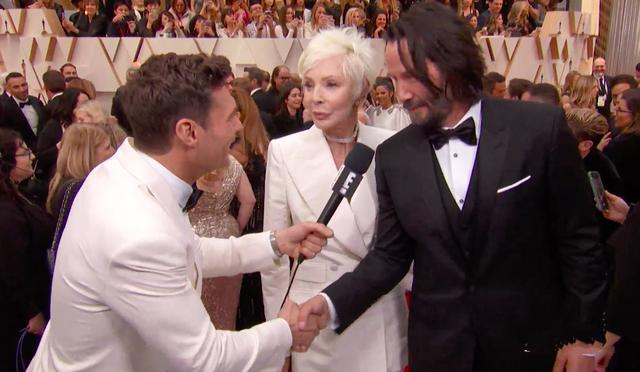 原创 妈妈76岁也不显老,基努里维斯带她出席奥斯卡颁奖,被误会是女友