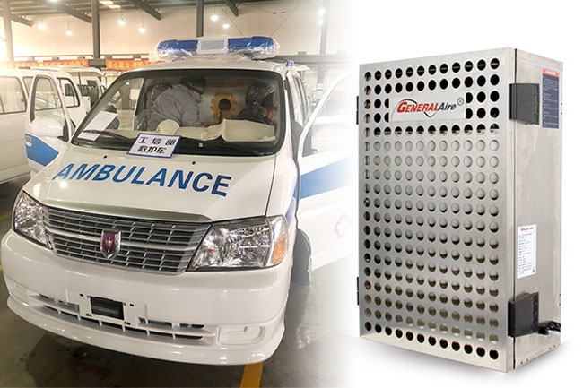 通用空气紧急生产负压系统 联结华晨集团为疫区提供负压救护车
