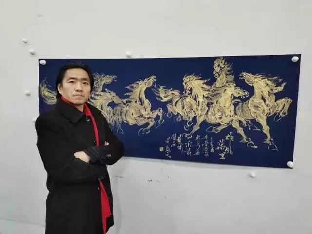 【艺术世界】画马名家陈学营老师纵横泼洒非凡马