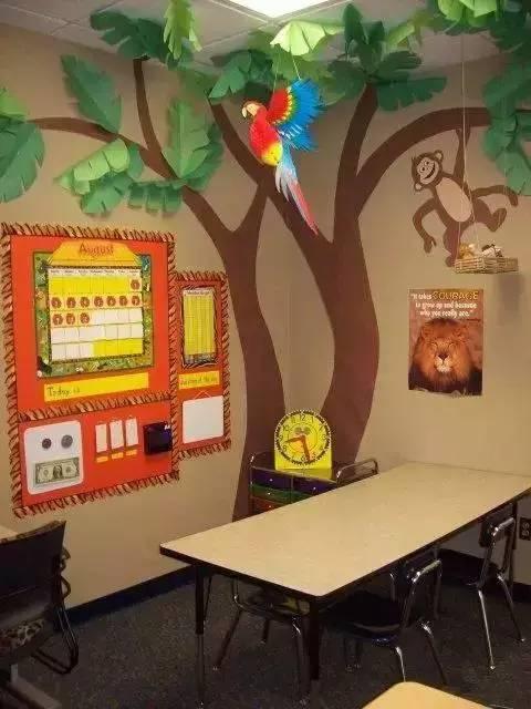 国外幼儿园手工环创布置 主题墙 教室 布告栏 值得一看