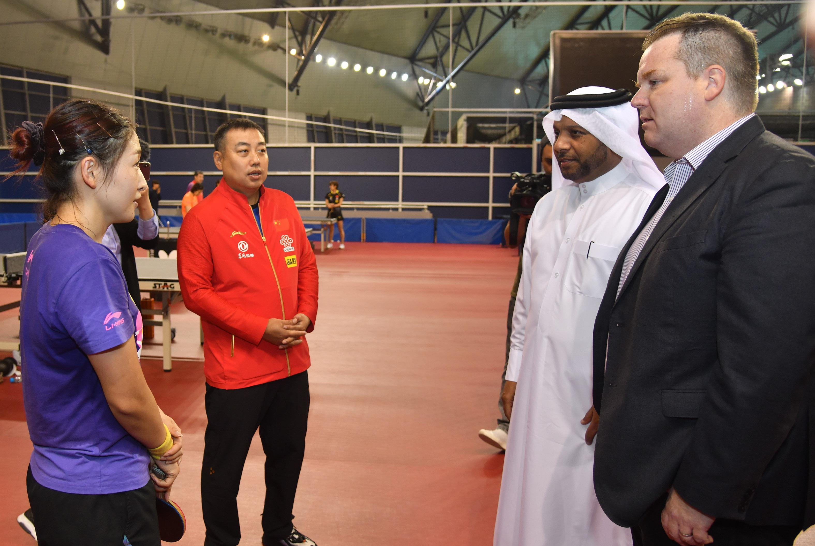 国乒多哈集训备战卡塔尔赛关注国内疫情遍寻医疗资源