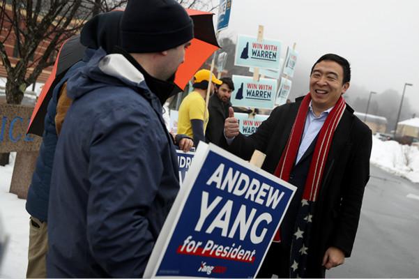 <b>美媒:美国华裔总统参选人杨安泽计划退出竞选</b>
