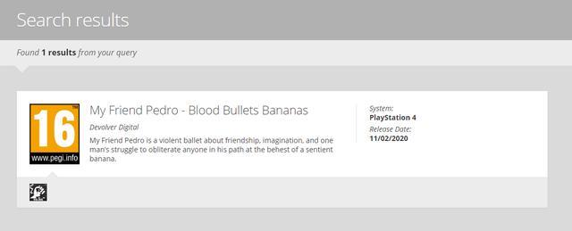 分级消息确认《我的朋友佩德罗》将登陆PS4