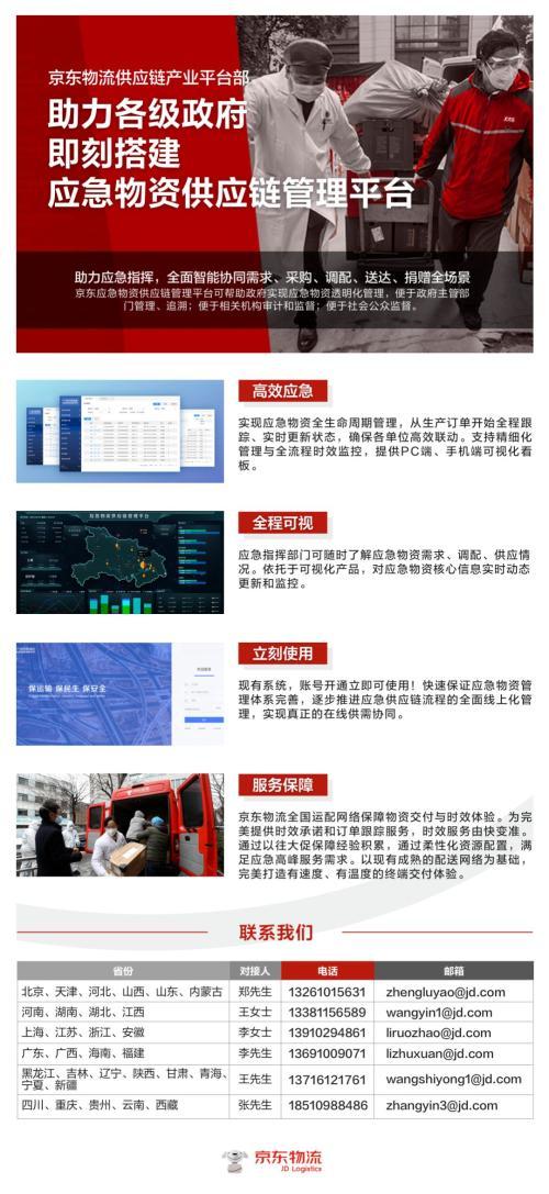 京东承建湖北省政府应急物资供应链管理平台 确保物资分发到位