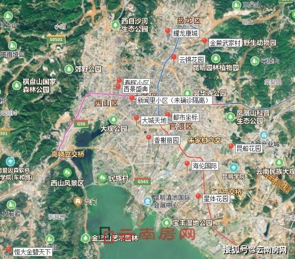 昆明市新冠肺炎确诊小区地图(不含东川区)图片