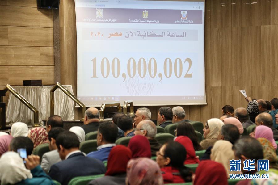 埃及国内人口总数突破1亿