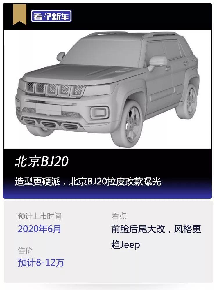 原来看新车,外形比较硬,北京BJ20已经暴露