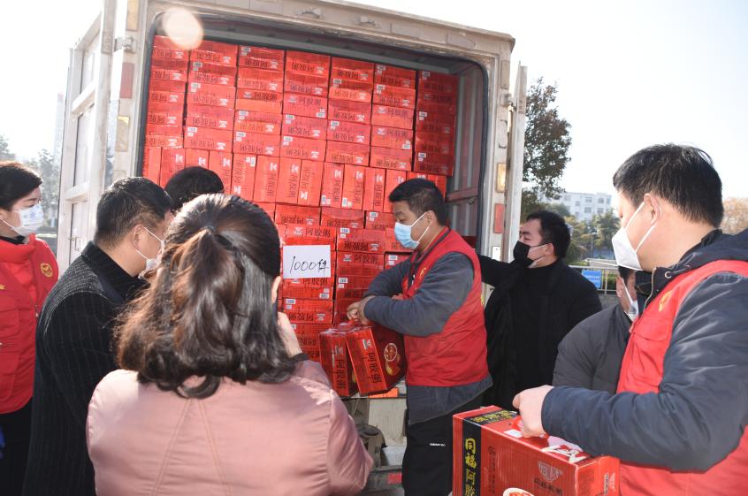 点赞!中国同福集团通过博爱联合会向商丘捐赠价值24万元碗粥