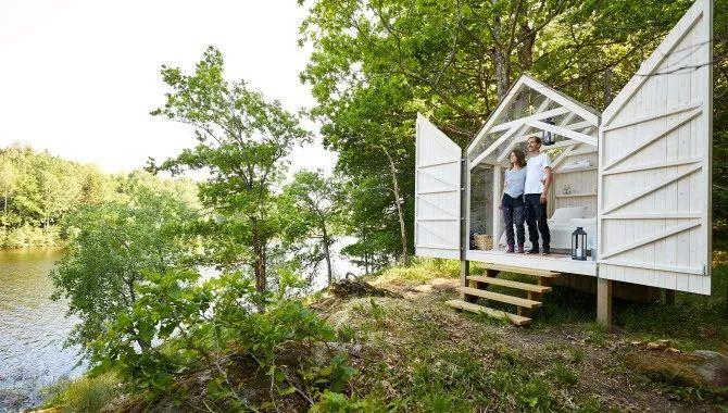 芬兰湖区玻璃屋