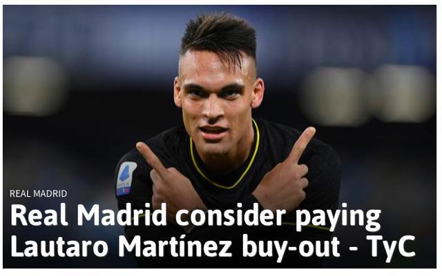 皇家马德里将支付1.1亿欧元签下马丁内斯