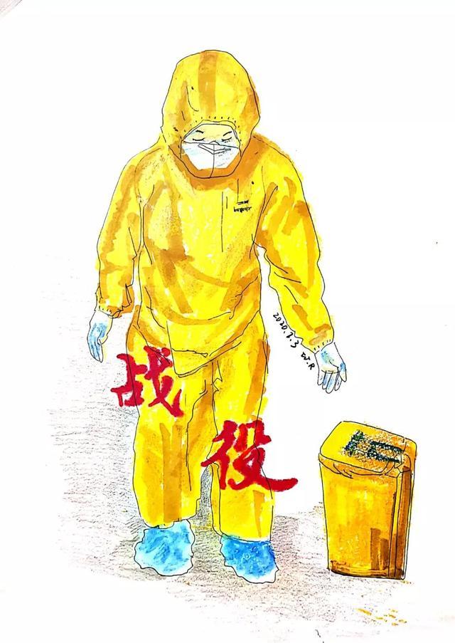 重庆潼南画家创作新冠疫情10大感动瞬间,火爆网络