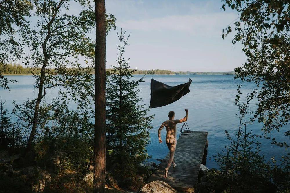 芬兰的丛林与湖泊