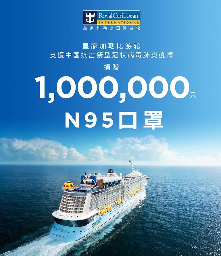 皇家加勒比国际游轮向中国捐赠100万只N95口罩 驰援中国 守望互助