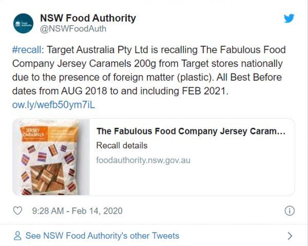 """召回!疑似含有塑料,澳洲知名品牌""""Target""""召回热门糖果!"""