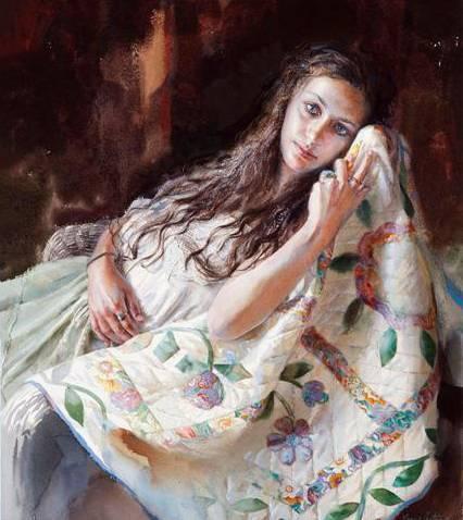 美国国宝级艺术家,她的水彩画当世最贵图片
