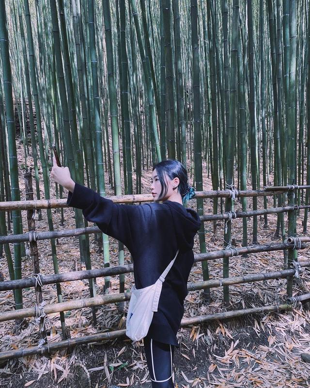 Lisa登封面 黑白挑染发型酷炫