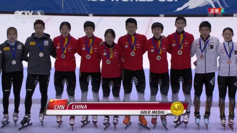 短道速滑世界杯:中国队1金1银1铜入账 混合接力夺冠