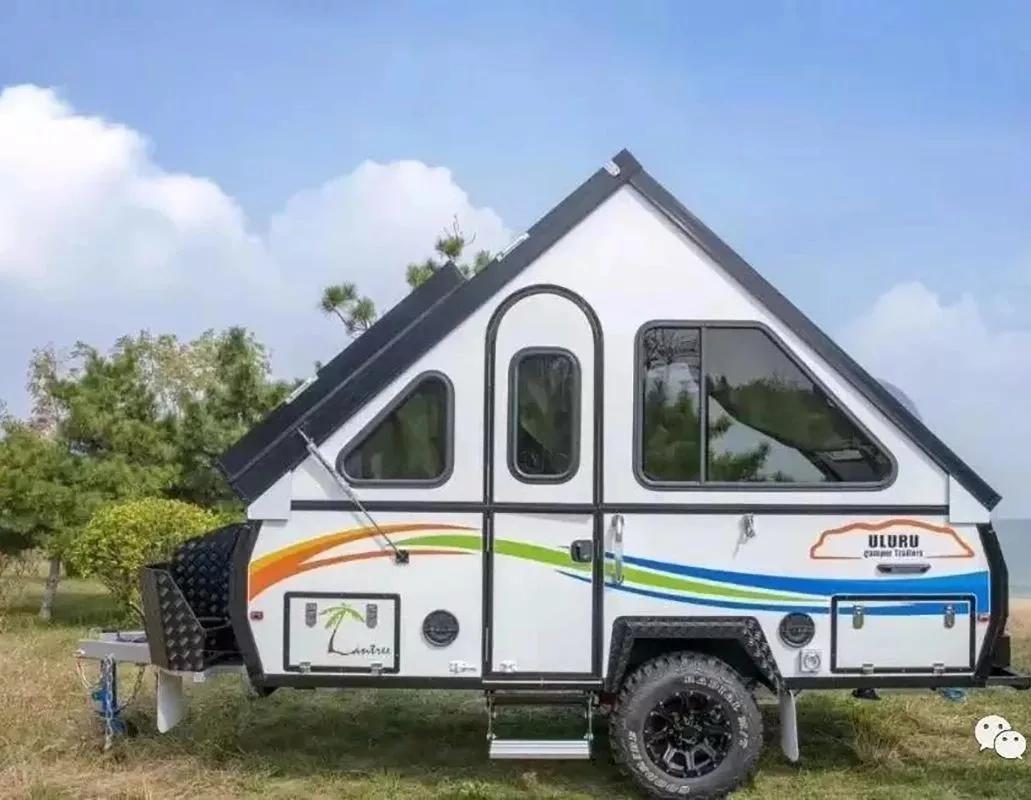 越野城堡式的拖挂房车,还能超级折叠进地下车库!
