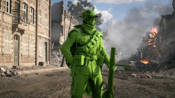 《战地1》玩具兵MOD演示绿色士兵决战别有趣味
