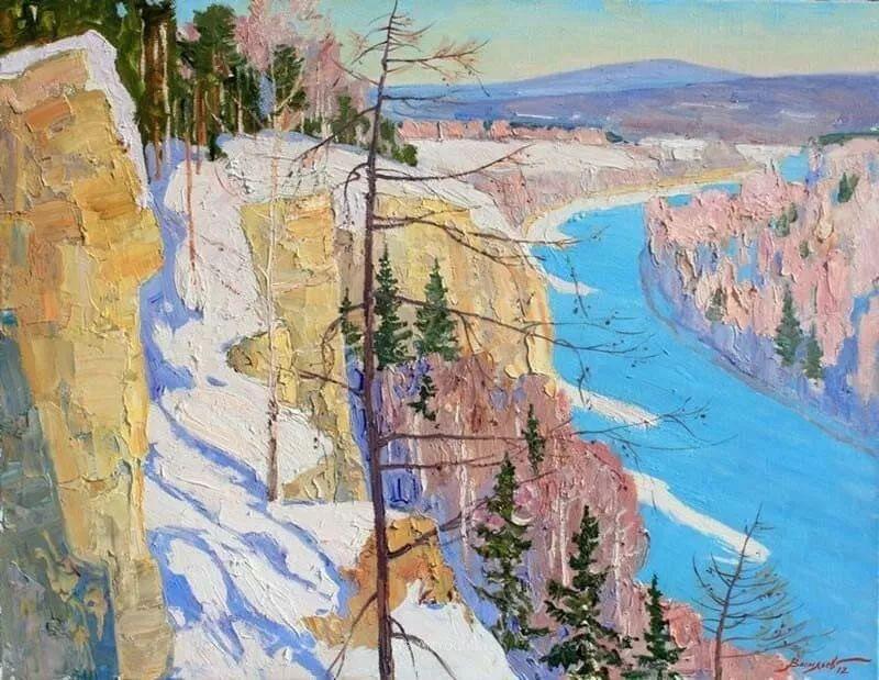 俄罗斯艺术家德米特里·瓦西里耶夫风景油画作品赏析