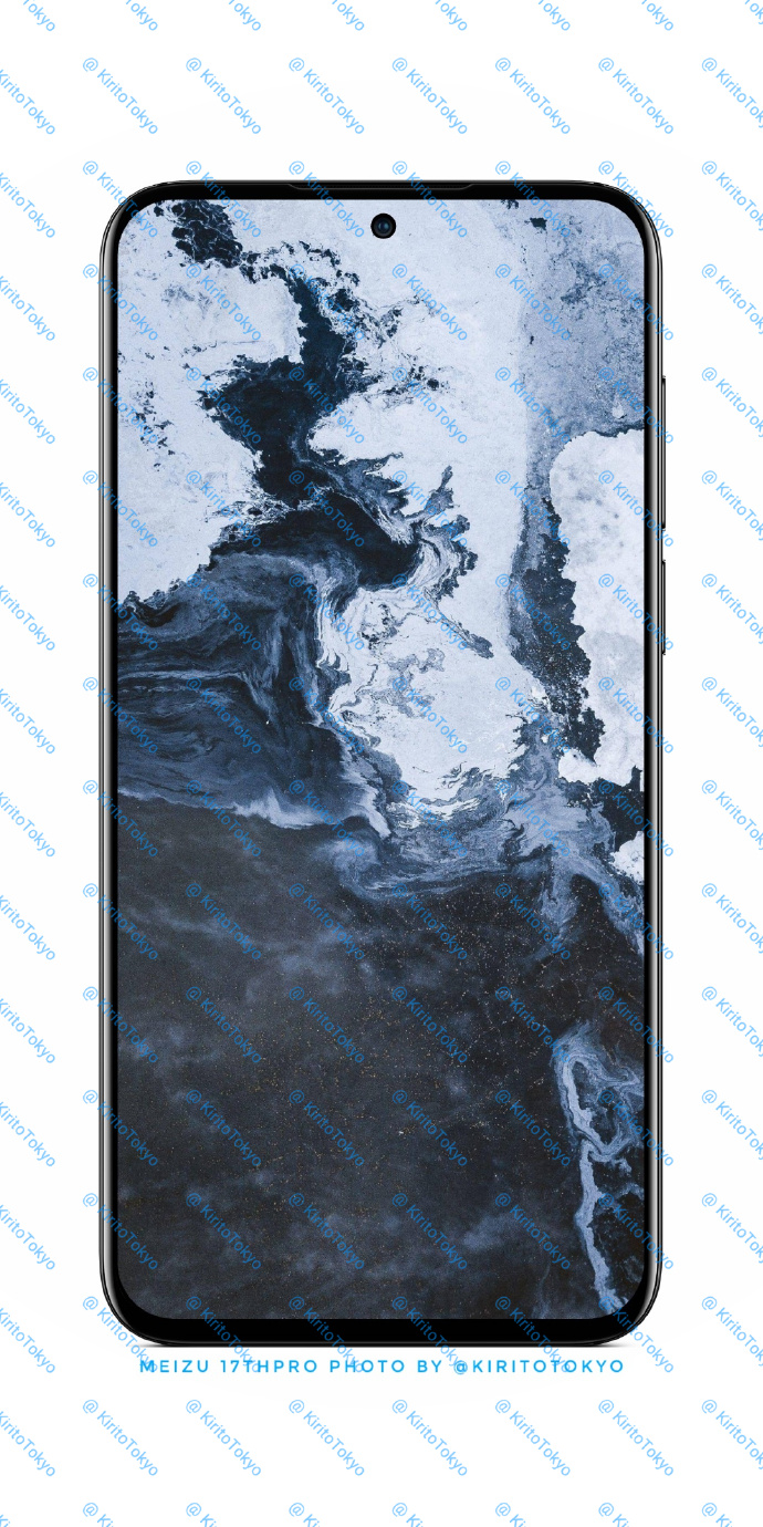 魅族17最新渲染图曝光:中置打孔屏设计,屏占比高