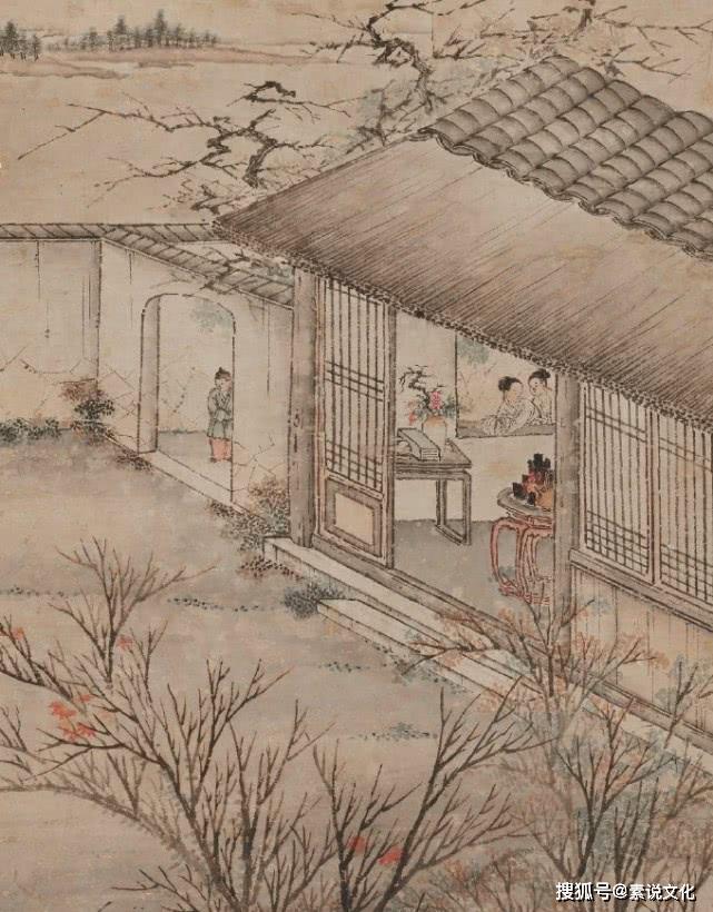 原创            一幅清朝《迎新图》,告诉大家古人是怎么过年的,细节描写很生动