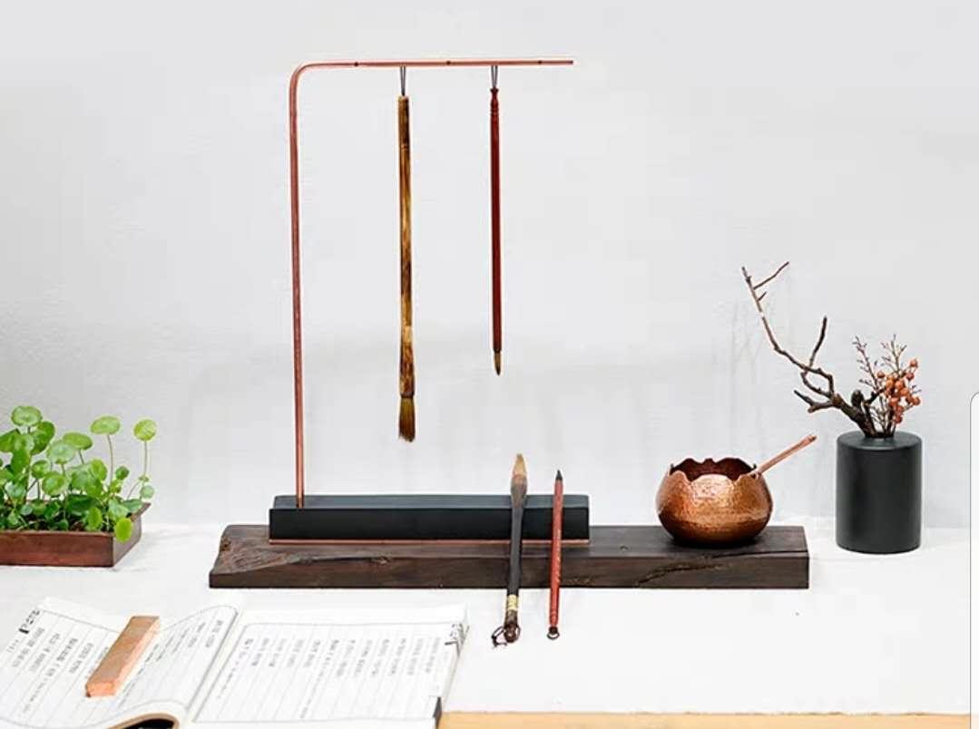 (二十六)【国际体】毛笔英文书法(圆体)中大写字母长竖的写法一